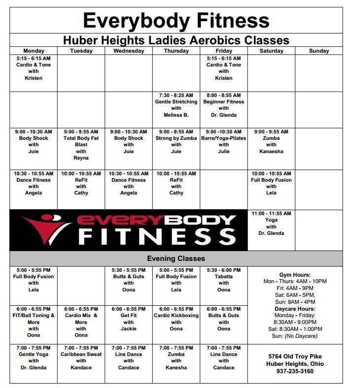 EveryBody Fitness | Huber Heights Gym - Ladies - FREE 30 ...