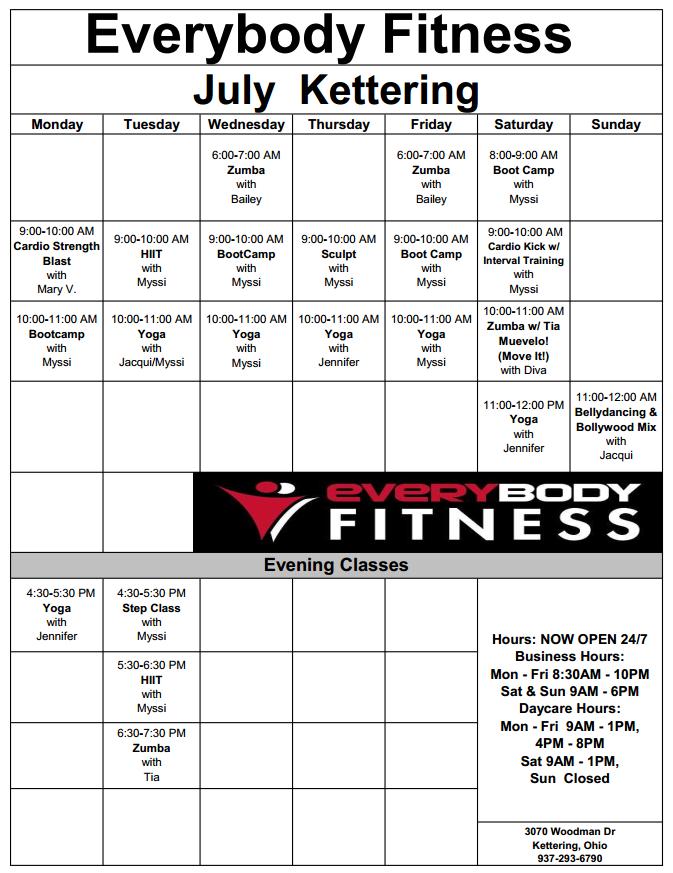 EveryBody Fitness | Gym Dayton Ohio - 937-293-6790 - FREE ...